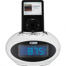 Acoustic Solutions Smartie Clock with Docking Station-White