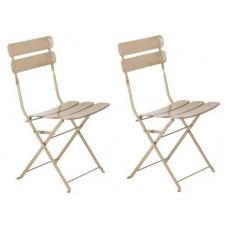 Garden Bistro Chairs - Stone Colour