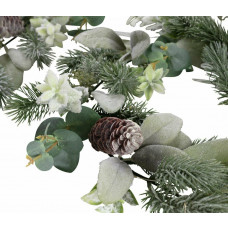 Home 1.8m Pre-Lit Winters Hibernation Christmas Garland - Green