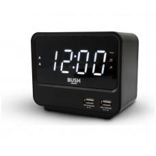 Bush FM USB Clock Radio - Black
