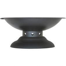La Hacienda Steel Large Firepit with Pedestal Stand
