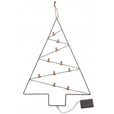 Home Christmas Noir Wire Tree Card Holder