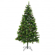 Berry and Cone Green Christmas Tree - 7ft