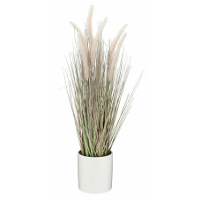 Home Highlands Large Artificial Grass Plant - Pink