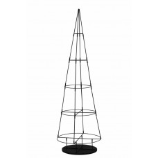Home 5ft Metal Space Saving Christmas Tree - Black