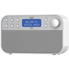 Bush DAB Radio - White/Silver (Battery Operated Only)