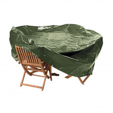 Heavy Duty Oval Patio Set Cover - Green