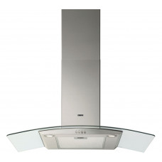 Zanussi 90cm Chimney Cooker Hood - Curved Glass
