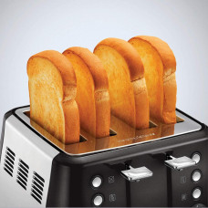 Morphy Richards Evoke 4-Slice Toaster - Black/Silver