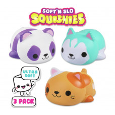 Soft N' Slo Squishies Mega Animals - 3 Pack