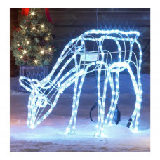 Home Bright White LED Animated Nodding Reindeer