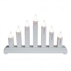 White Wooden Candle Bridge Decoration