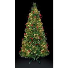 Premier Decorations 5ft LED Snow Tipped Tree - Green