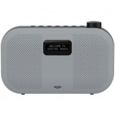 Bush Portable Stereo DAB Radio - Grey