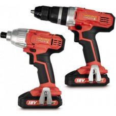 Workzone Titanium 18v Li-Ion Drill & Impact Driver kit