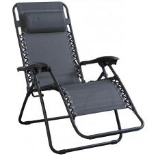 Home Grey Reclining Sun Lounger - Single Chair