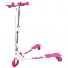Ozbozz Scissor Scooter - White/Pink