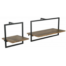 Habitat Loft Living Set Of 2 Metal Surround Shelves