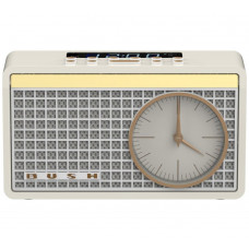 Bush Classic Analogue Clock Radio - Cream