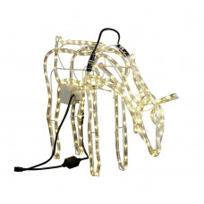 Collection Bright White LED Animated Grazing Reindeer