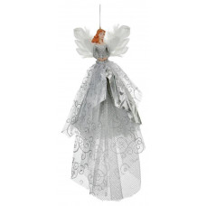 Premier Decorations Fairy Tree Topper Decoration - Silver