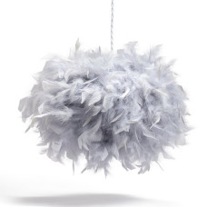 Home Feather Pendant Light Shade - Grey