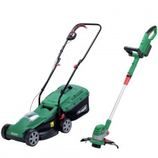 Qualcast Cordless 24V Lawnmower and 24V Grass Trimmer