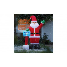 Home Inflatable Santa With Sign