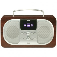 Bush Wood DAB Radio Oak With Colour Display