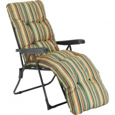 Multi-Position Sun Lounger with Valencia Cushion - Check
