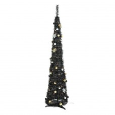 Pop Up Luxe Black Christmas Tree - 6ft