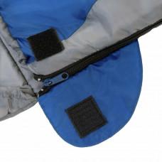 Trespass 300GSM Envelope Cowl Single Sleeping Bag - Grey/Blue