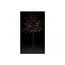 Premier Decorations 5ft White LED's Pre-lit Cherry Tree - Black