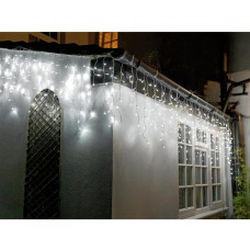 Home 720 Icicle Christmas Decoration Lights - White