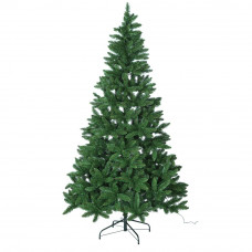 Home 7ft Pre-lit Christmas Tree - Green