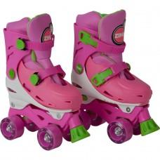 Zinc Adjustable Quad Skates - Pink