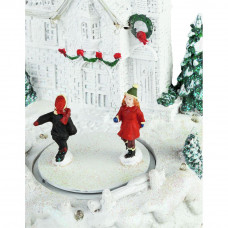 Christmas Castle With Ice Rink Christmas Decoration