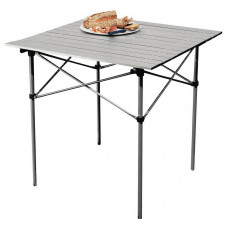 Home Aluminium Folding Camping Table With Slatted Top