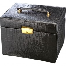 Black Crocodile Jewellery Box