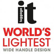IT Luggage World's Lightest Medium 4 Wheel Suitcase - Red