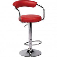 Executive Gas Lift Bar Stool - Red