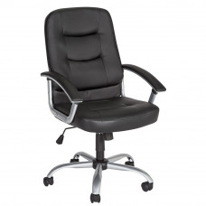Carter Leather Effect Height Adjustable Office Chair - Black