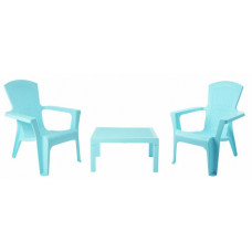 Home Baltimore 2 Seater Bistro Set - Turquoise/Blue