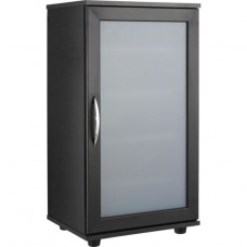 Contemporary Storage Cabinet - Black