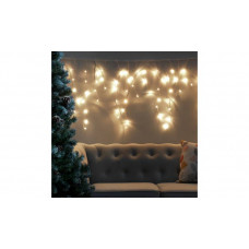 Home 160 Warm White Icicle String Lights - 8m