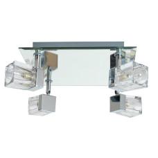 Home Mira 4 Glass Cube Bathroom Spotlights - Chrome