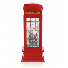 Premier Decorations 26.5cm Christmas Telephone Box Water Spinner
