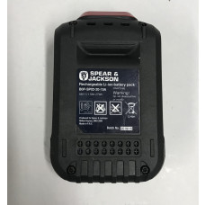 Spear & Jackson B0P-SP02-20-15A Li-Ion 18V Replacement Battery