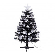 Home 4ft Christmas Tree - Black, White & Silver