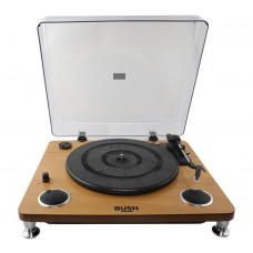 Bush Pro Turntable Vinyl Record Player with Speakers